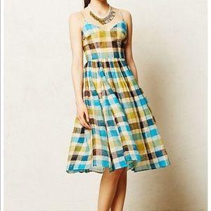 Tracy Reese Linen Dress w/tulle underskirt